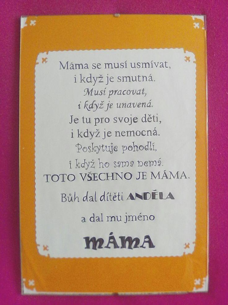 Dárek pro maminku