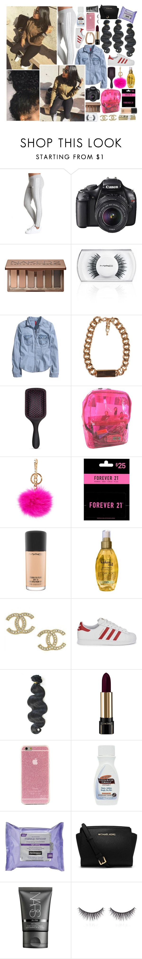 """""""[ O2 ) 'It goes down in the dm'"""" by prettyflacko-x ❤ liked on Polyvore featuring Urban Decay, MAC Cosmetics, H&M, JFR, MICHAEL Michael Kors, Forever 21, Organix, Chanel, adidas Originals and &K"""