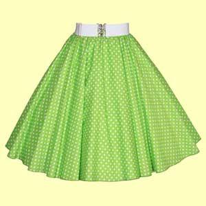 Full Circle Polkadot skirt
