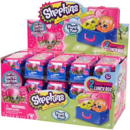 Shopkins Season 7 Food Fair 2 Shopkins in a Lunch Box Mystery Blind Packs Full Case of ×30 by Moose Toys - #56553