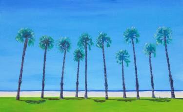 "Saatchi Art Artist SHAUN STAPLETON; Painting, ""Venice Beach Palms"" #art"