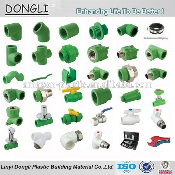 Inch plumbing materials ppr pipe size fittings cold and