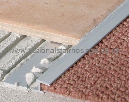 Ramp Transition Profile For Tile Carpet Junction 2 5m Carpet Tiles Carpet To Tile Transition Floor Edging
