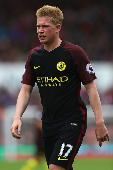 Kevin De Bruyne of Manchester City during the Premier League match between Stoke City and Manchester City at the Britannia Stadium on August 20 2016...