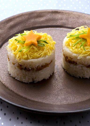 ツナそぼろの七夕押し寿司 のレシピ・作り方 │ABCクッキングスタジオのレシピ | 料理教室・スクールならABCクッキングスタジオ