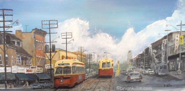 #Toronto #streetcar #St Clair west 1960s briankillin art