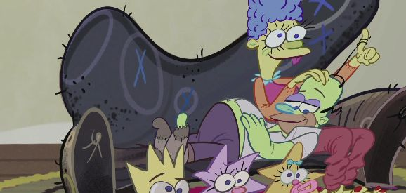 Simpsons Halloween Couch Gag Gets Ren & Stimpy Treatment