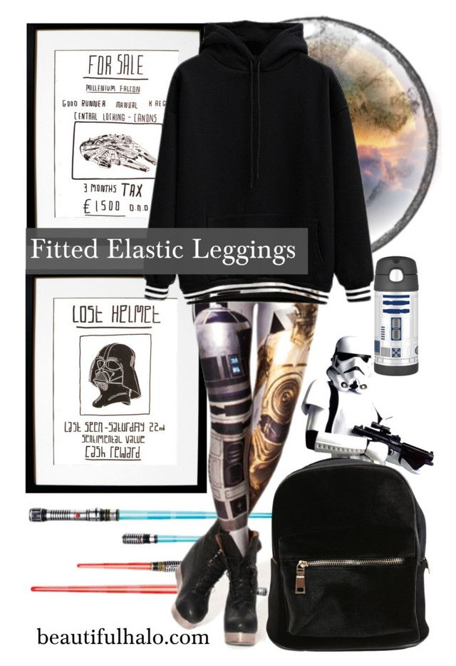"""""""Fitted Elastic Leggings: BeautifulHalo"""" by ambacasa ❤ liked on Polyvore featuring mode en Thermos"""