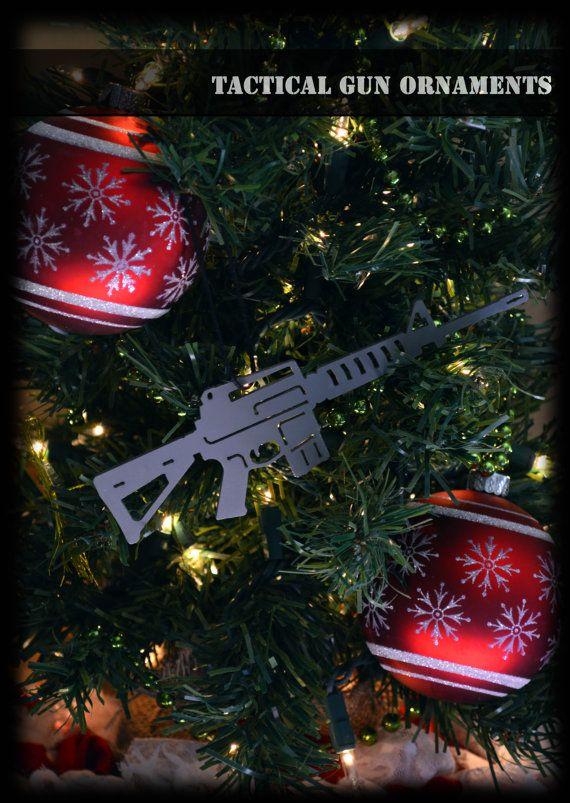 Gun Christmas Ornament Ar15 Ornament By