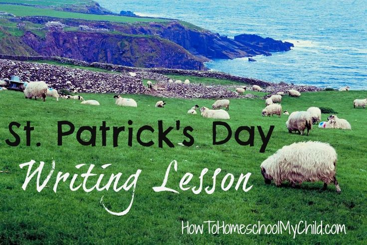 St Patrick's Day Writing Lesson for Kids from HowToHomeschoolMyChild.com