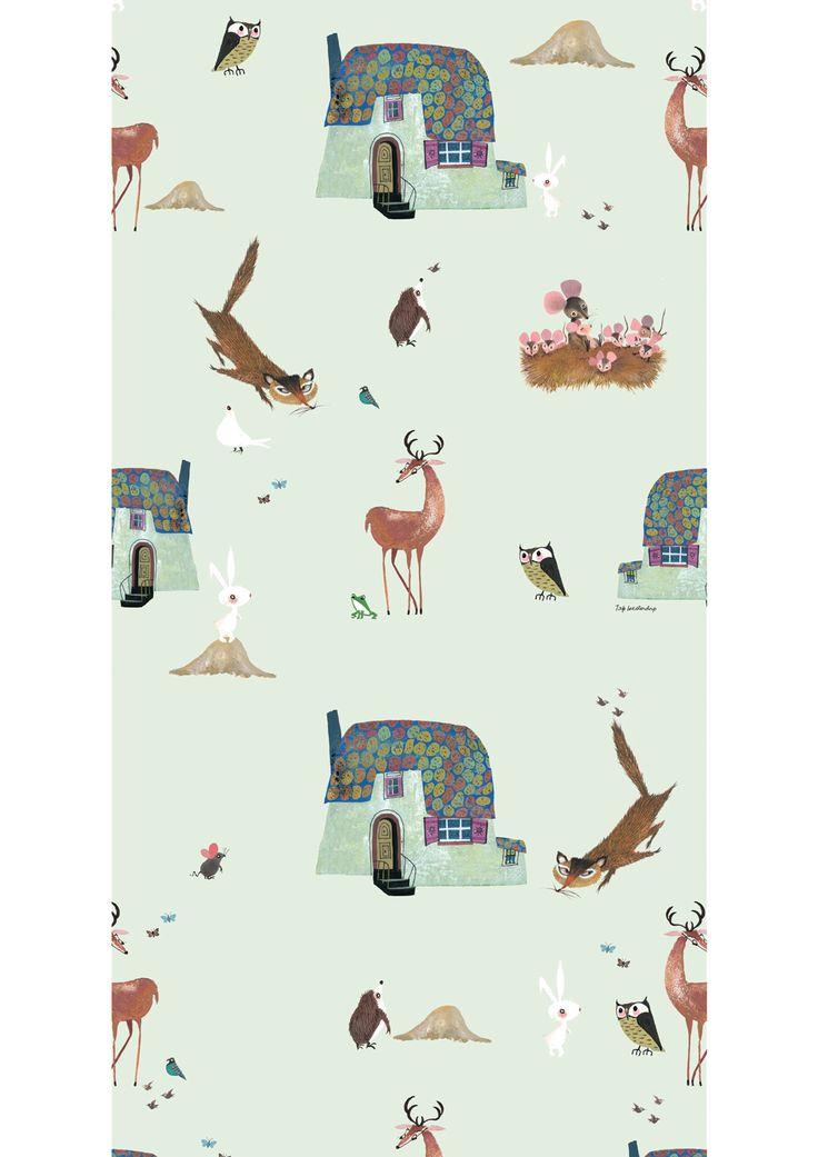 NIEUW van KEK Amsterdam Behang met bosdieren | Fiep Westendorp