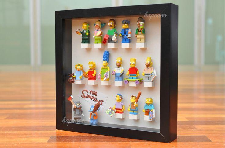 Lego Simpsons Minifigures Collection DIY Display, IKEA Ribba