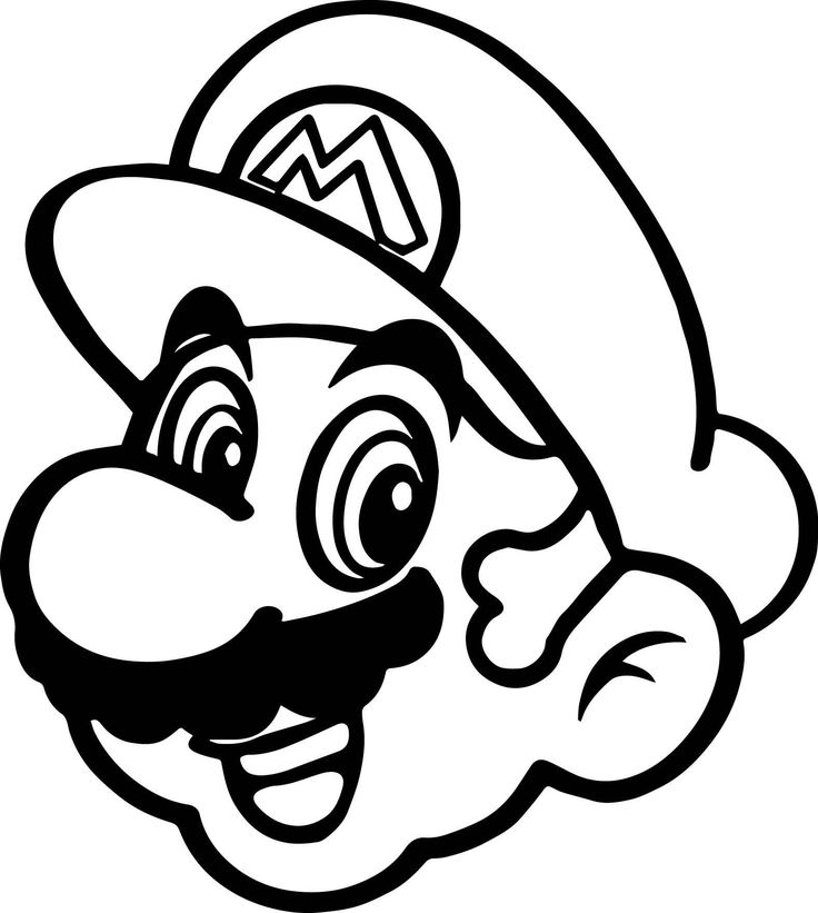 Super Mario Coloring Pages Lovely Super Mario Happy Face