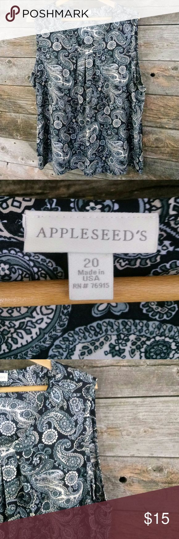 Appleseed's 20 Paisley Cami Tank nwot Appleseed's 20 Paisley Cami Tank. Perfect for layering.  That new color you don't have.  I love all Appleseed's products. So when i am buying I always pick these up.  😄Please take a look at my other items all Lane Bryant cloths below $15.😄 Appleseed's Tops Camisoles