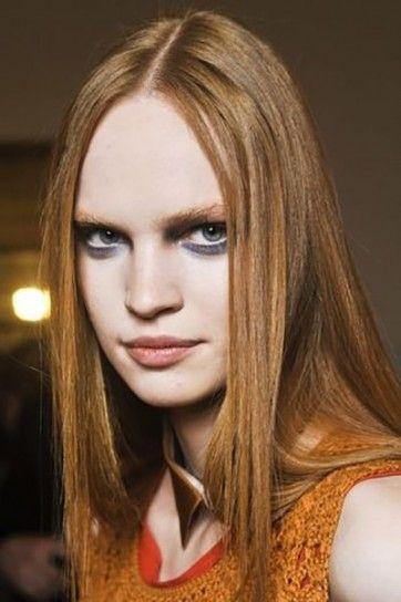 Da Massimo Rebecchi capelli lunghi color rosso ramato con riflessi oro