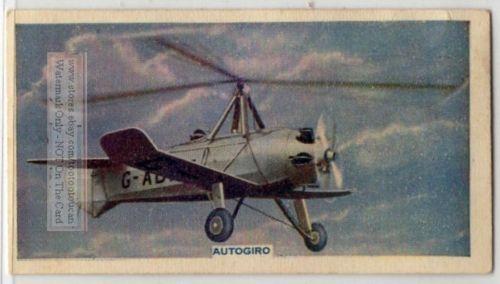 Autogyro Gyrocopter Rotorcraft Flying Aircraft 80 Y O Trade Ad Card