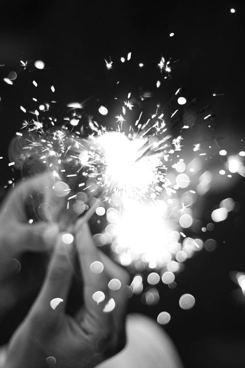 Having sparklers at your wedding. . Do a black & white shot. .!  Great photo op!