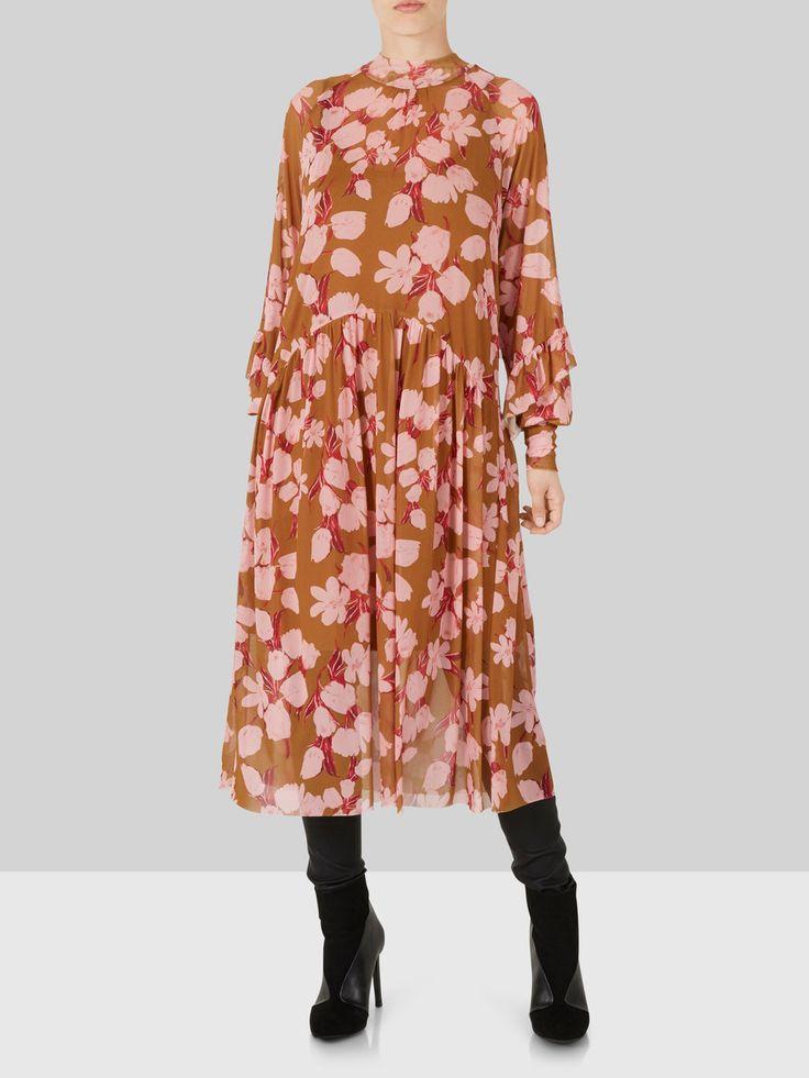 Y.A.S Kleid Blumen-Mesh- in gelb   ABOUT YOU
