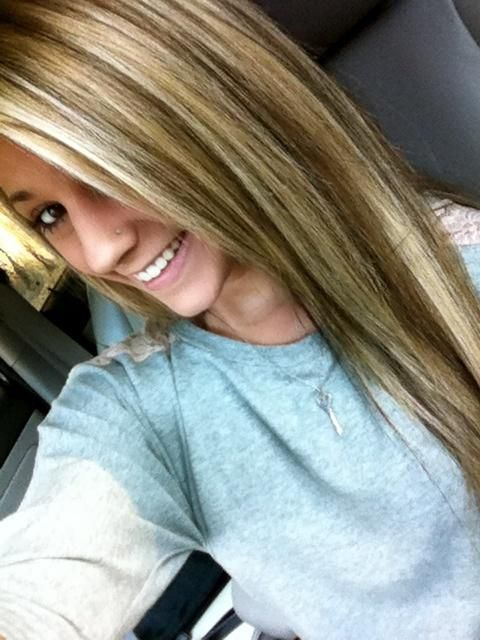 Blonde and brown lowlights