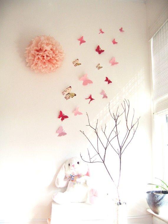 Handcut/decorated butterflies.