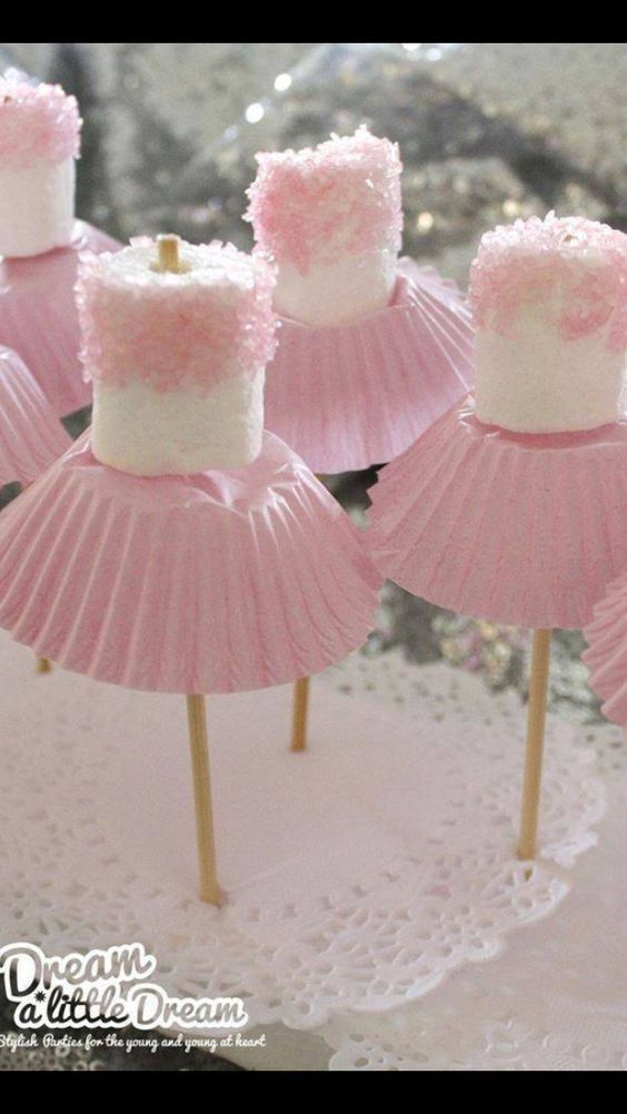 *❤️Cute baby shower idea marshmallows fun food: