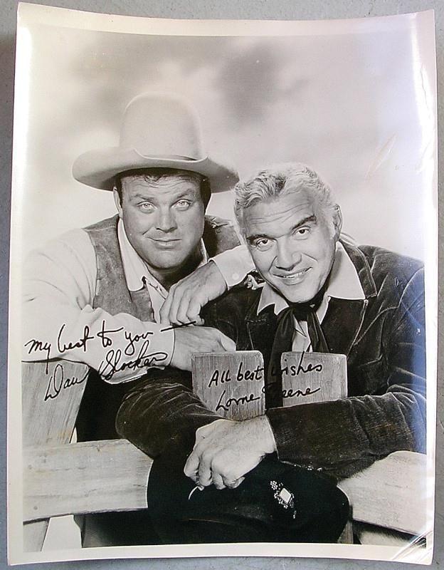 BONANZA TV Show Vintage 1960's Publicity Cast PHOTO Lorne Greene & Dan Blocker