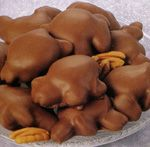 Katydids - Whole fancy pecans, soft buttery caramel and real milk chocolate, were made by Beich's Candy Factory, Bloomington, Illinois.