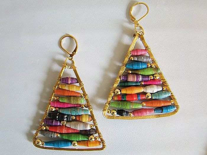 Today's tutorial shows off remarkably how you can make a high street look even better by doing it yourself at home! The pyramid earrings above were created by the lovely Miriam aka Mad Mim, whose blog brings craftacular goodness and inspiring tutorials into our lives on a regular basis.
