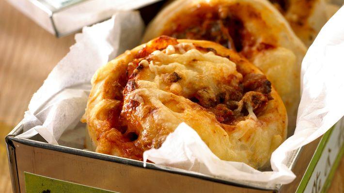 Pizzasnurrer med kjøttdeig