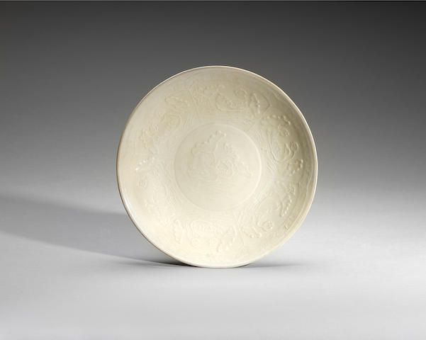 A moulded dingyao dish Song/Jin Dynasty