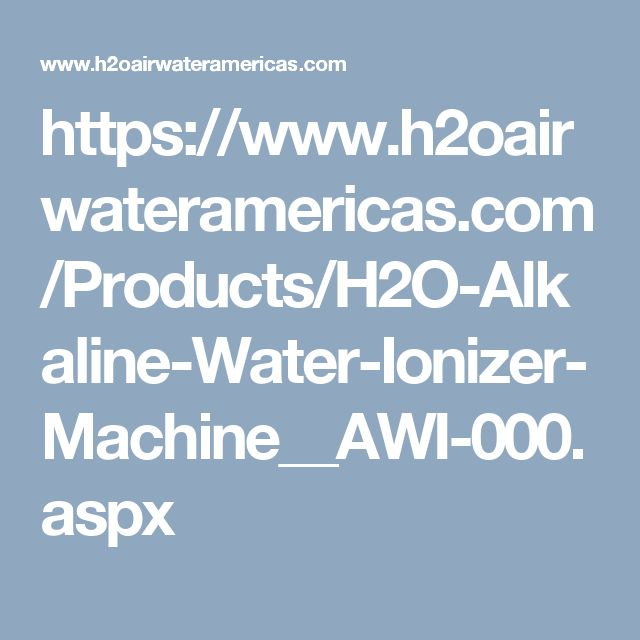 The H2oairwateramericas has the best alkaline water machine  and an ionizer  machine  (also known as an alkaline ionizer) is a home appliance which claims to raise the pH of drinking water by using electrolysis to separate the incoming water stream into acidic and alkaline ionizer machine components.