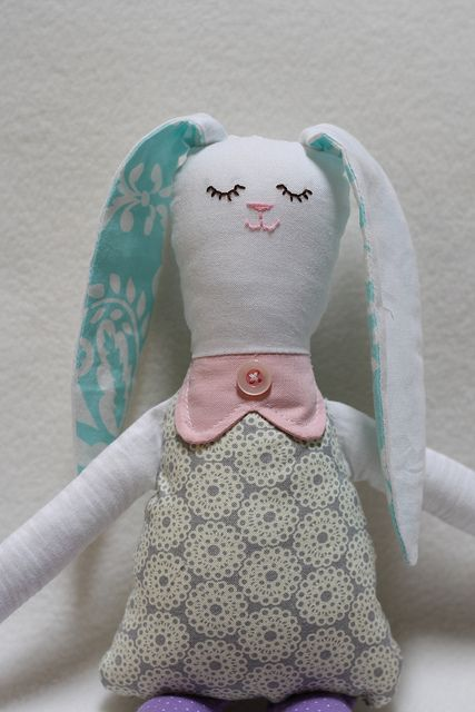 Bunny Rag Doll with Free Pattern