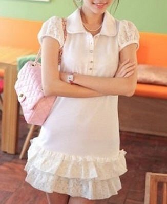 FR071 SHORT SLEEVE COTTON DRESS Price: PhP 300 Size: Medium Color: White Condition: 100% Brand New / Without any accessories Remark: Please note that due to limitations in photography and the inevitable differences in monitor settings, the colors shown in the photography may not correspond 100% to those in the items themselves. Fabric: Cotton