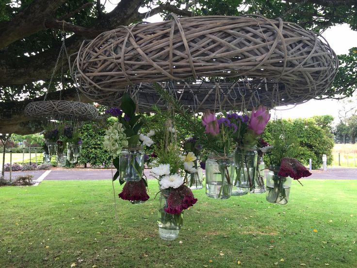 Jar chandeliers