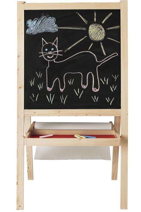 Ikea Grundtal Paper Towel Holder ~ MÅLA Easel, softwood, white  Whiteboard, Gifts For Kids and Easels