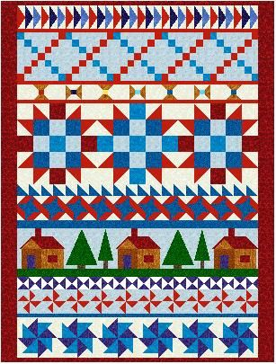 red white and blue quilts | There might be both applique and pieced blocks. If you have any ...