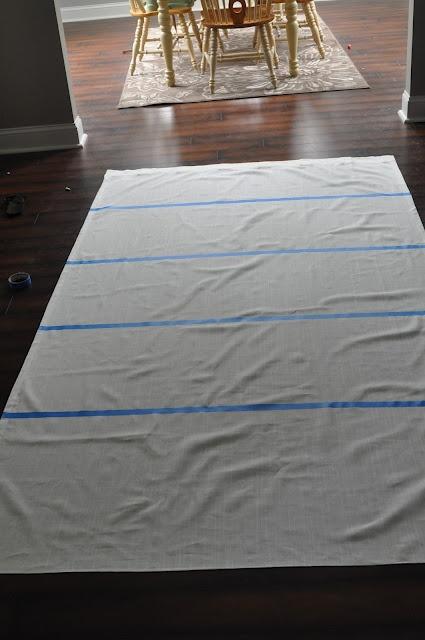 painted strip curtains: secret is using mod podge