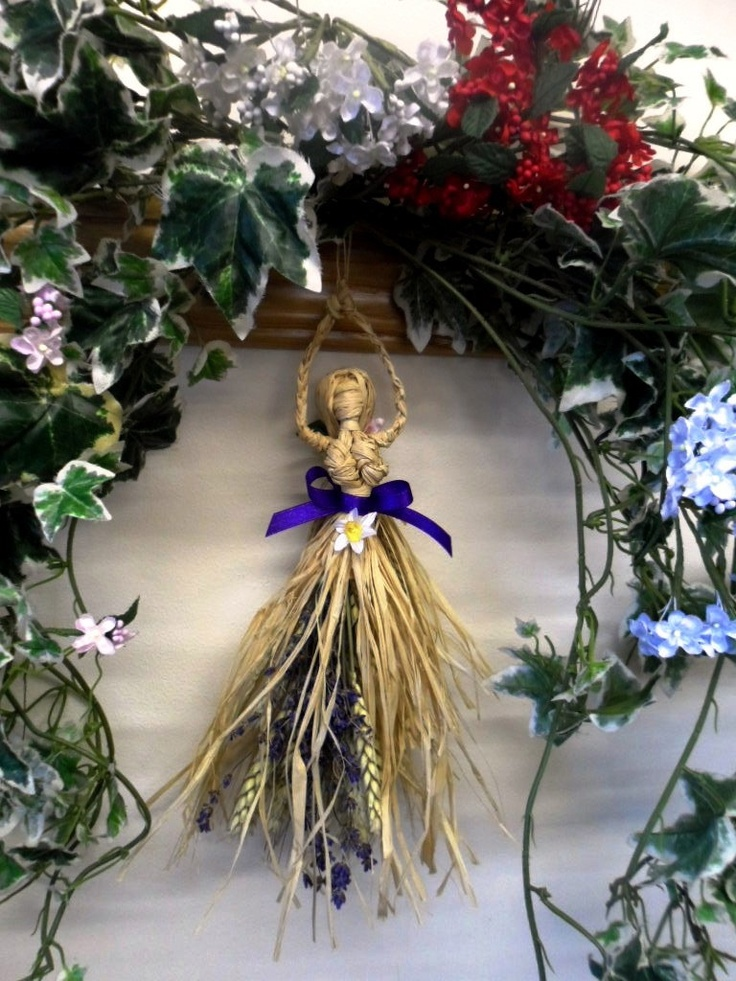 ✯ Ostara Spring Goddess Corn Dolly. Pagan Wiccan Handcrafted Home Blessing Gift :: Etsy Shop PositivelyPagan ✯