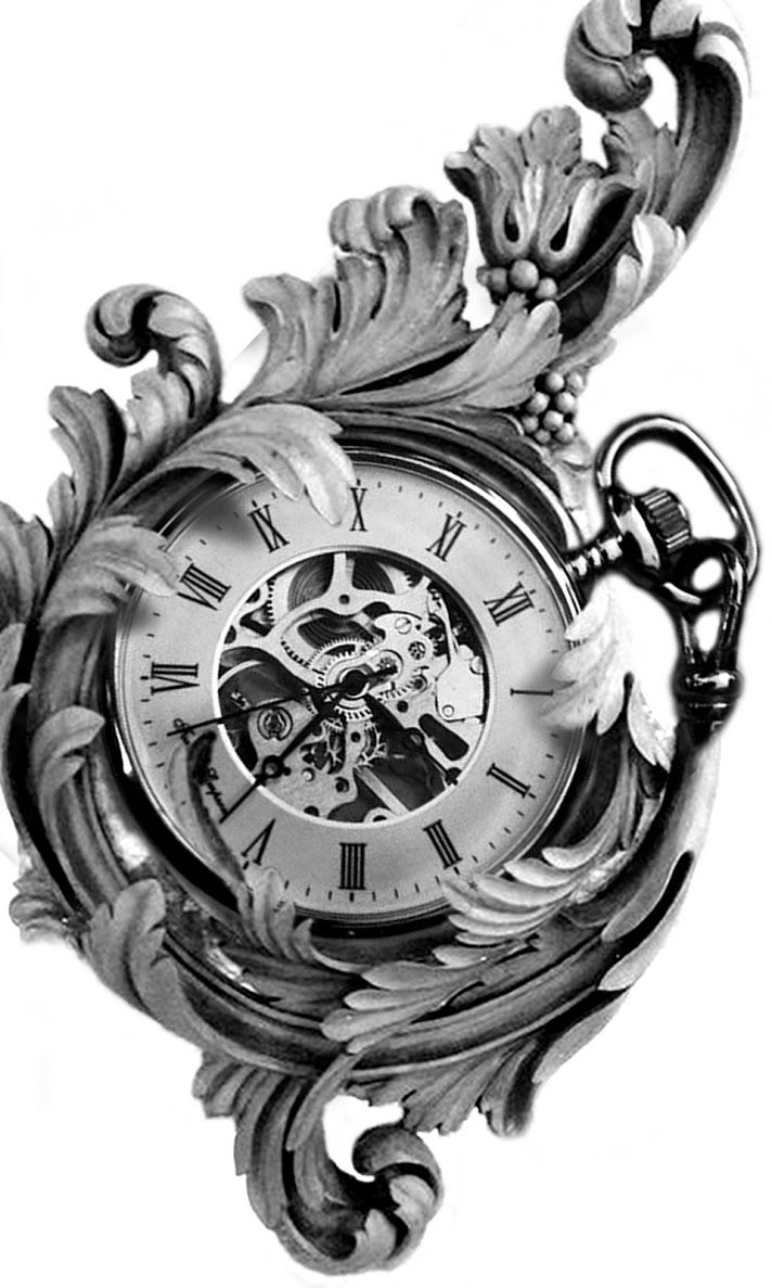 montage photo clock par stephane bueno tatoueur studio black corner tattoo valence #tattoo #god #photo #stephanebueno #blackcornertattoo #inked #clock #pocketwatch
