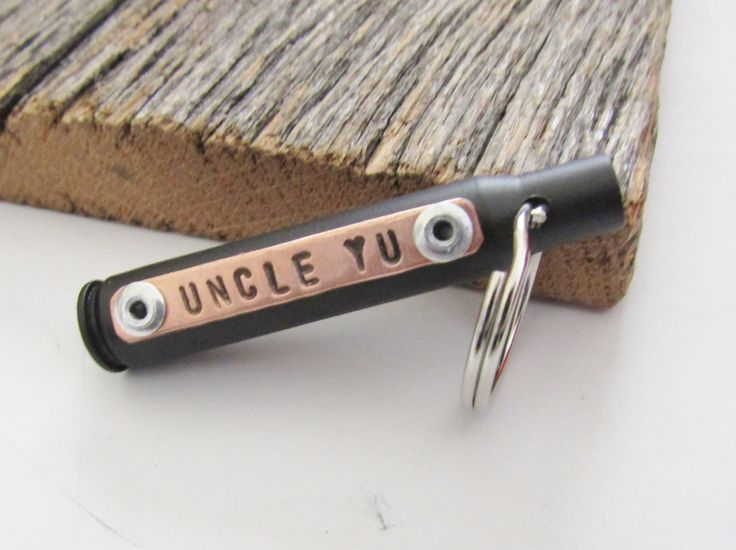 Uncle Gifts for Christmas Keychain for Uncle Gun Gifts for Uncle Bullet Jewelry…