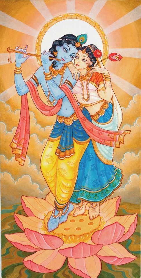 Radha and Krishna by Nila Madhava das