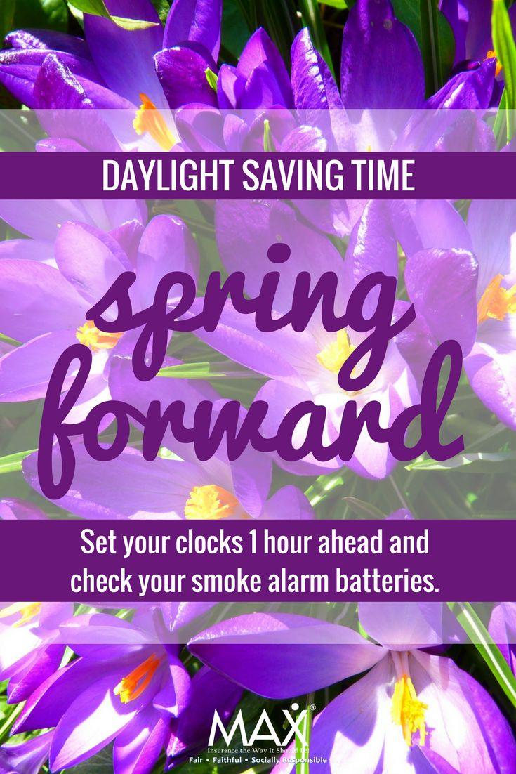 Daylight Saving Time - Check your smoke alarm batteries!