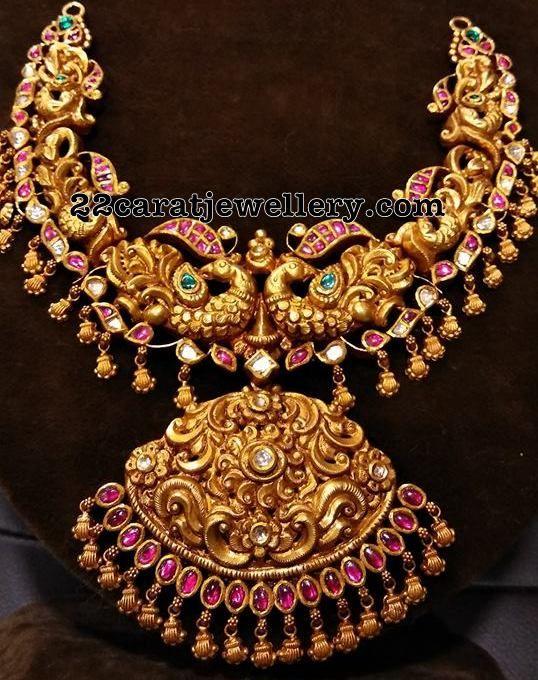 Nakshi Design Peacock Necklace - Jewellery Designs
