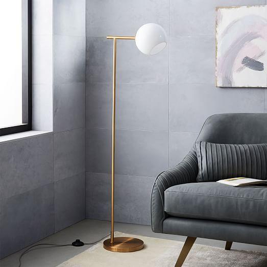 Staggered Glass Floor Lamp West Elm Floor Lamp Led