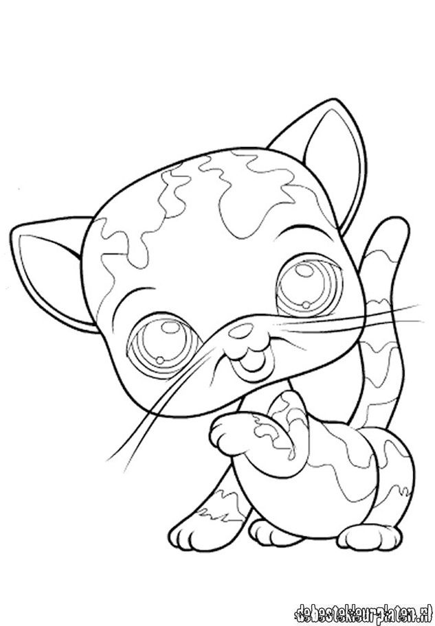 lps coloring pages kitten - photo#16