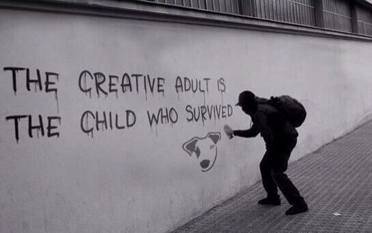 The Meaning Of Creativity In Today's Society. Makes me think of my baby boy.