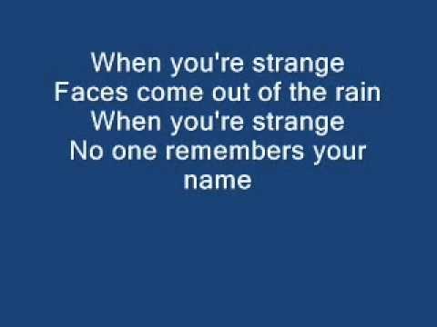The Doors - People are strange lyrics - YouTube
