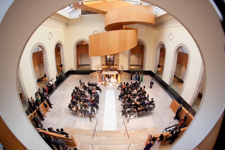Art Gallery of Ontario wedding view from the top