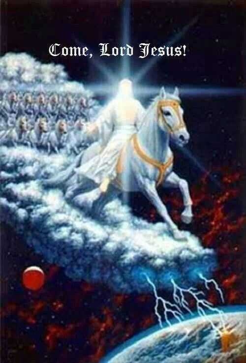 Come Lord Jesus!!  ||  Then I saw heaven opened, and a white horse was standing there. Its rider was named Faithful and True, for he judges fairly and wages a righteous war. (Revelation 19:11 NLT)