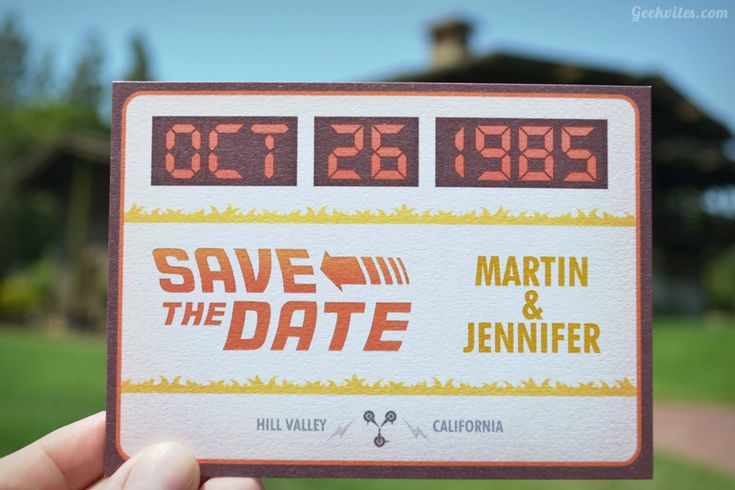 Future Boy - We don't need roads where we're going.Geeky, Ideas, Future Invitations, Future Saving, Geek Wedding, Dates, Wedding Invitations, Craig Redl, Back To The Future Wedding